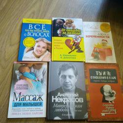 Psikoloji kitapları, bebek masajı, hamilelik