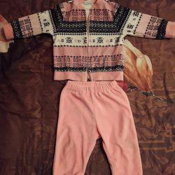 Velor pink Turkish costume 74 size