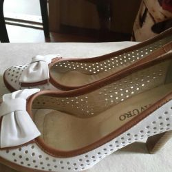 Shoes summer leather P36 NEW