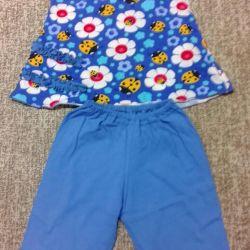 Κοστούμι καλοκαίρι με ανάπτυξη 98 - 104 cm