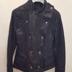 Нова шкіряна куртка S