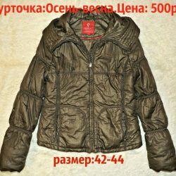 Yaylı ceket Haki-metallik.LETNYAYA FİYAT!
