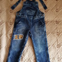 Denim coveralls