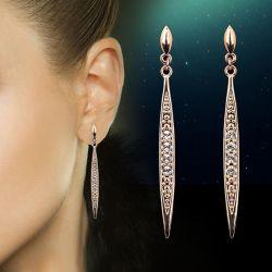 Gold plated earrings DFE055.