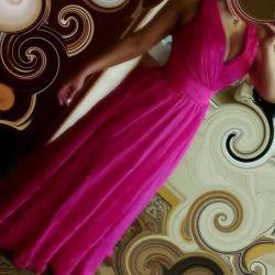 Uzun elbise (yerde) renk pembe / fuşya