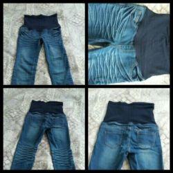 Sıcak kot pantolon ve hamile pantolonu