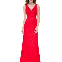 Red evening lace dress 44 р-р