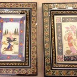 Восточная картина-инкрустация персидская миниатюра