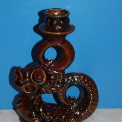 Figurină din porțelan, sfeșnic Dragon. URSS