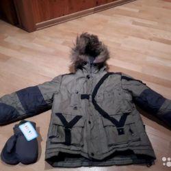 Winter jacket Oldos + mittens