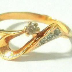 Золотое кольцо 375 пробы б.у.