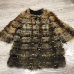 Fur knitted coat Fox 42