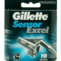 Νέες κασέτες αισθητήρα Gillette excel 10 τεμ