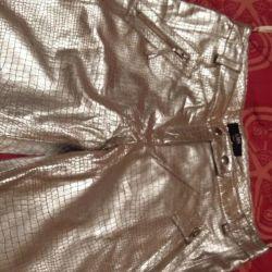 Новые кожаные брюки ems exchange collection