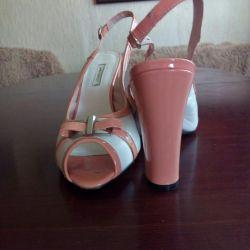 Sandals new nat.kozha, 40size