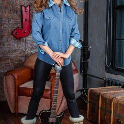 Сорочка джинсова нова розмір 46