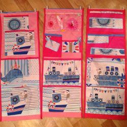 Pockets in the garden stall Marine motifs)