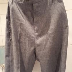 GRAY WOMEN'S TROUSERS R.42-44 NEW COMPLETELY