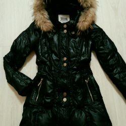 Steep down jacket 44/46 with hood black