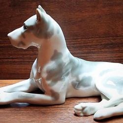 Porselen heykelcik Mermer mastiff LFZ SSCB