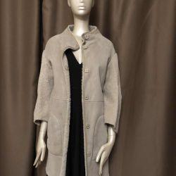 Kadınlar için koyun derisi ceket Yves Salomon