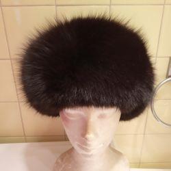 Pălăria de șapcă pentru femei de la o vulpe polară 55 - 56
