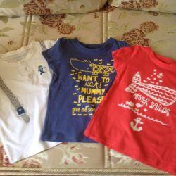 Children's summer T-shirts