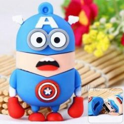Funny 16GB USB flash drive Minion Captain America