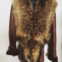 Sheepskin coat with fur