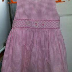 Продам девчачье розовое платье 100% коттон