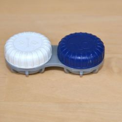 Soft contact lens container