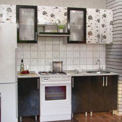 Κουζίνα AZALIA FRESH 260 εκ. Μαύρο και άσπρο