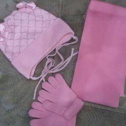 Φθινόπωρο καπέλο, φουλάρι και γάντια