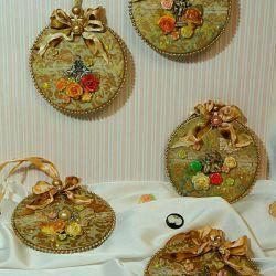 Decoupage balls pendant gift christmas tree toy rostest