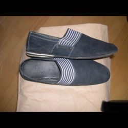 Slip-on-mens suede navy blue grand gudini42,5