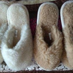 Papuci din lana 100%. Cadouri pentru Anul Nou