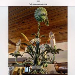 Handmade chandelier. Europe