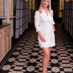 Elbise ceketi beyaz italya