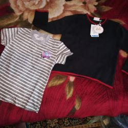 New sweater and t-shirt for 2-3g.