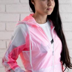 Ветровка Adidas white / pink женская