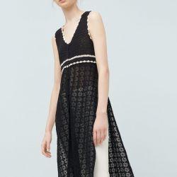 % 100 pamuktan yapılmış yeni bir açık iş elbisesi