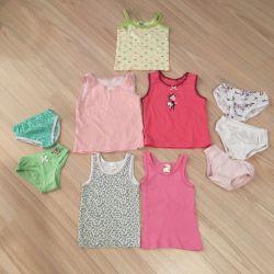 Children's things, T-shirts and swimwear