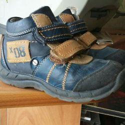 Boots demi-season genuine leather. 25 size