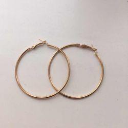 Χρυσά μεταλλικά σκουλαρίκια