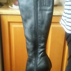 Leather boots 36 р-р