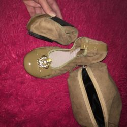Leather ballet shoes?