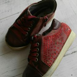 Sneakers, suede boots, size 23