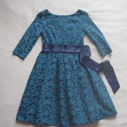 Elegant dress with satin bow
