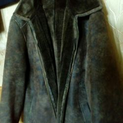 Sheepskin παλτό μεγάλο