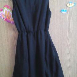 Rochie de mătase negru elegant